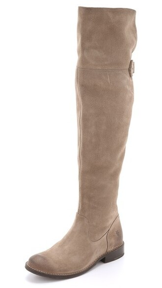 over the knee boots suede shoes