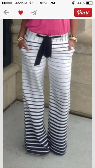 pants pinterest dressy patterned dress classy pants comfortable clothes dressy pants bottoms stripes stripes pants black and white stripped pants