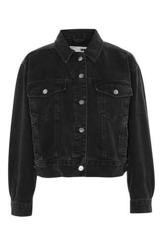 jacket denim jacket denim cropped black