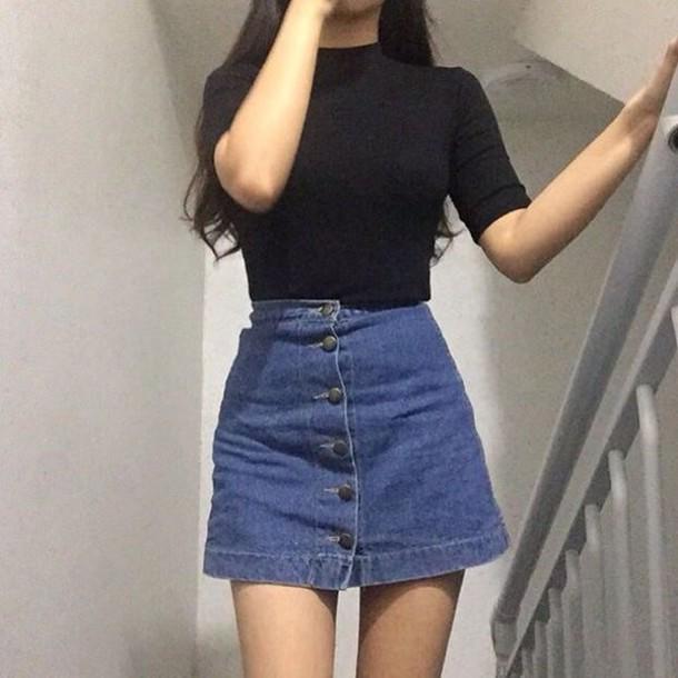 skirt button up denim skirt denim skirt button up blue shirt tight