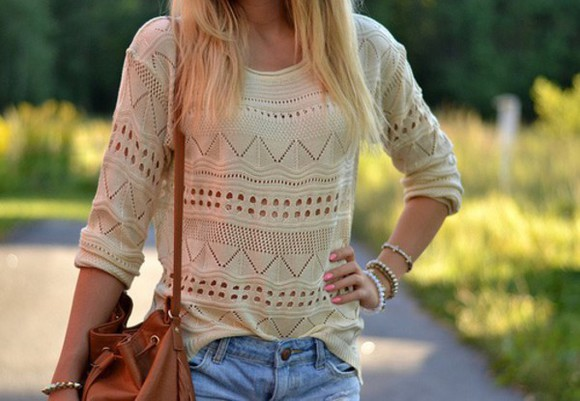 spring top fall outfits knitwear off-white cut-out holes