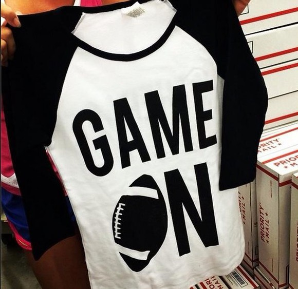 t-shirt skirt white black football shirts