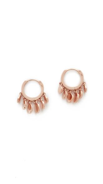 mini rose gold rose earrings hoop earrings gold jewels