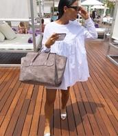 dress,white,white dress,flashes of style,smock dress