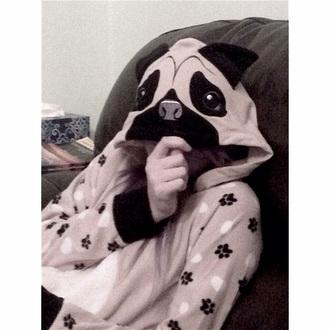 pajamas cute style dog pugs jumpsuit romper searrastiles