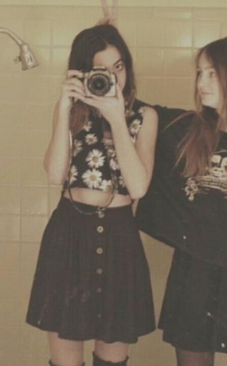 skirt button up buttons skater skirt high waisted black button up skirt