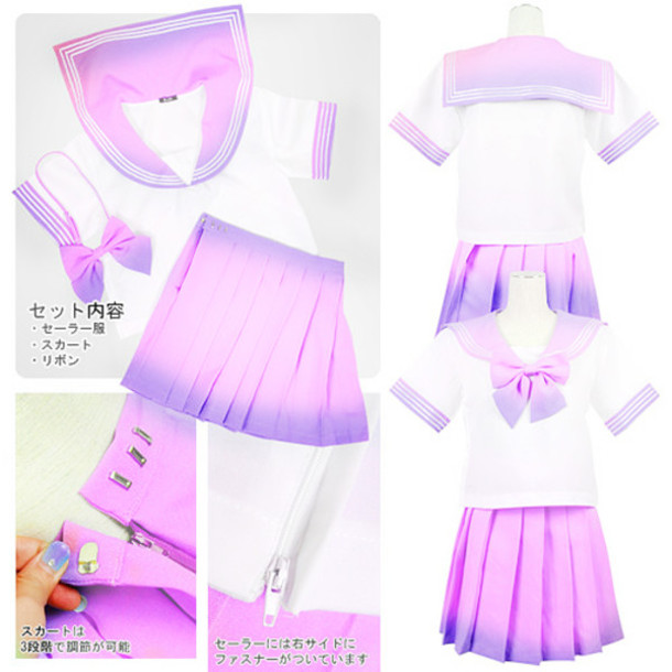Kawaii Clothes Lavender Skirt Japanese Pastel Pink