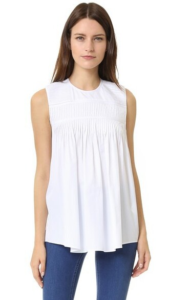 top sleeveless top sleeveless white