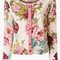 Twin-set - studded floral cardigan - women - wool - s, wool