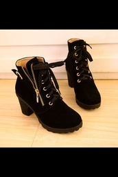 shoes,boots,heels,black,combat boots,suede boots,mid heel boots,black boots