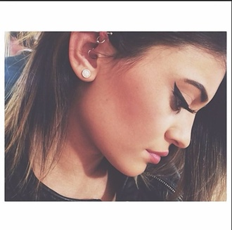 make-up kylie jenner jewels earphones earrings small earrings cute earrings kylie jenner jewelry