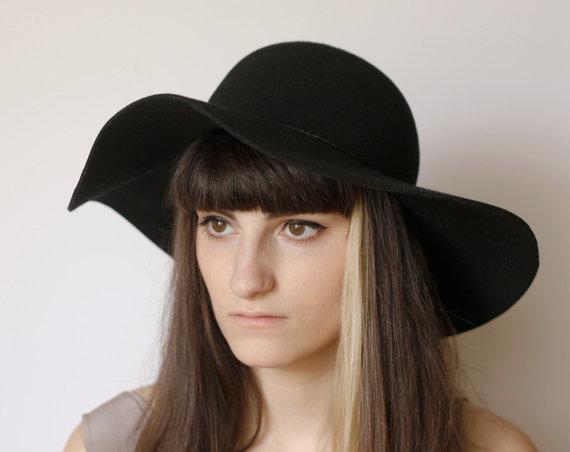 Steampunk Classic Black Wool Floppy Hat par BlackHatFactory sur Etsy f4e6d1d5e7b