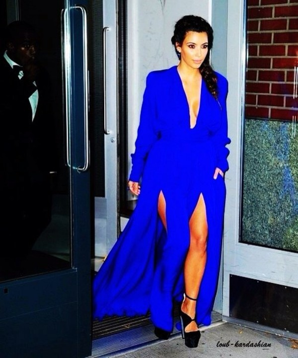 dress blue dress long prom dress long dress slit dress