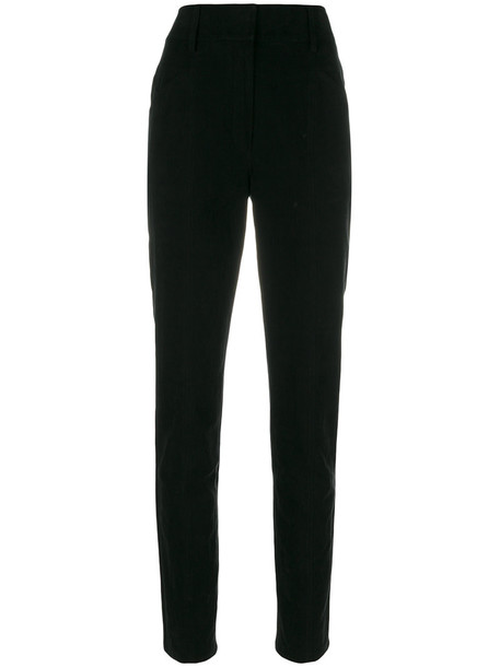 Saint Laurent high women cotton black pants