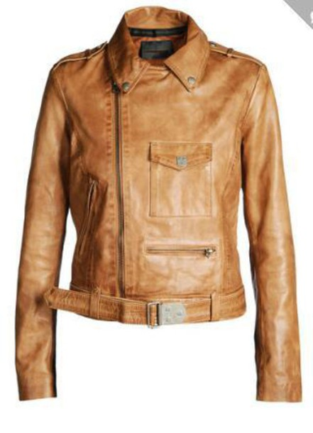 coat leather jacket chesnut
