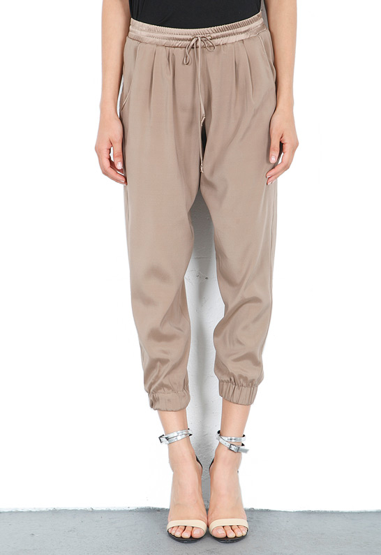Ramy Brook Crop Pant in Mocha | SINGER22.com