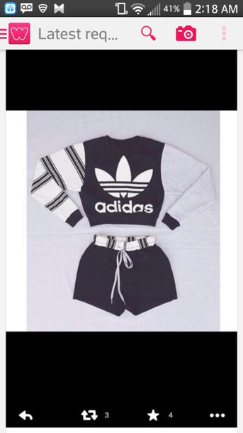 sweater adidas sweater adidas stripy jumper black white