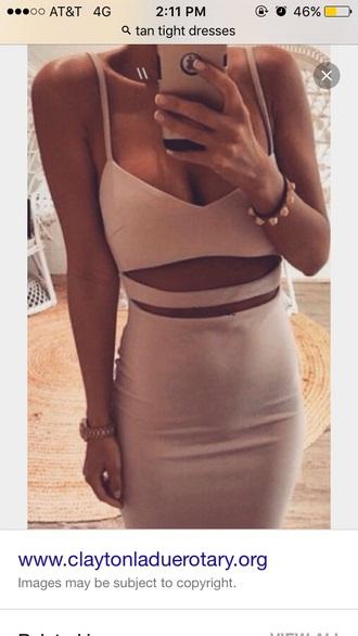 dress tan tight dresses