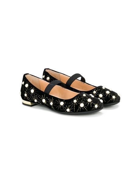 shoes leather black velvet