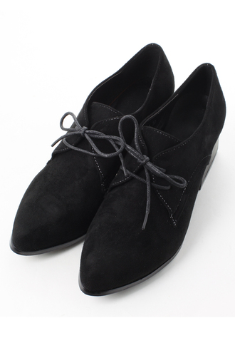 faux black shoes suede pointed toe