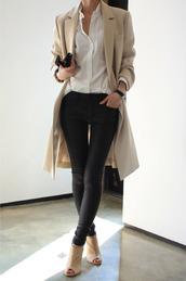 jeans,coat,shoes,blouse,jacket,pants,beige coat,trendcoat,nude trench coat,winter coat