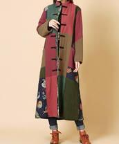 coat,long sleeves,winter coat,padded long coat