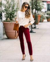 pants,skinny pants,pumps,high heel pumps,leopard print,handbag,sweater,white sweater,knitted sweater,sunglasses