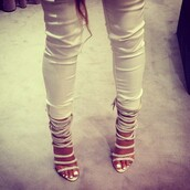 shoes,stilettos,strappy,white,fierce,sexy,heels,rope,strappy sandals
