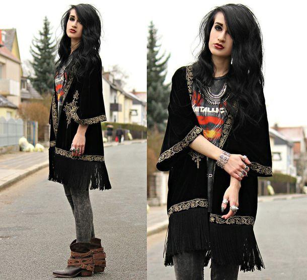 cardigan velvet kimono grunge lovely