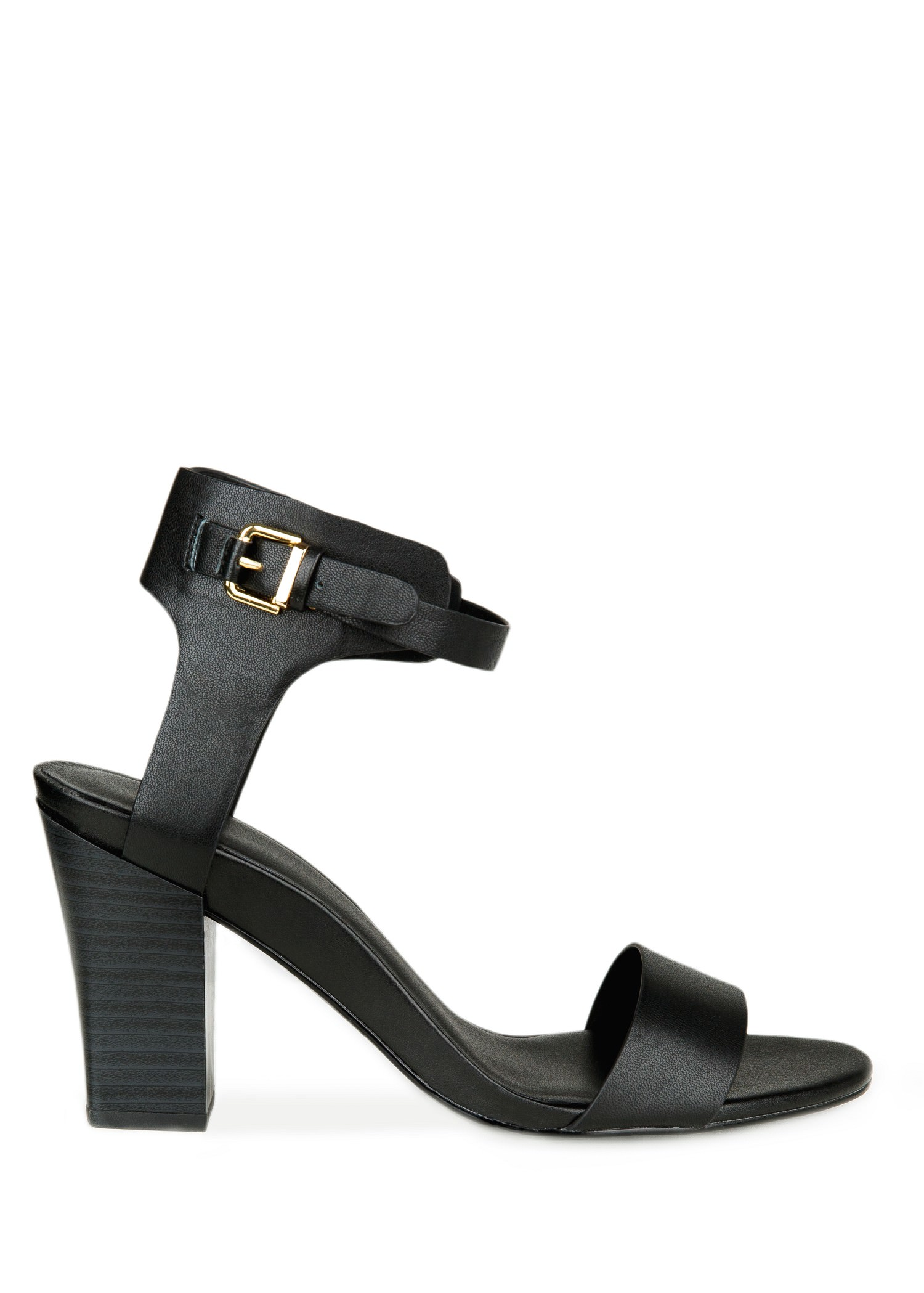 Ankle-cuff leather sandals - Shoes for Women | MANGO