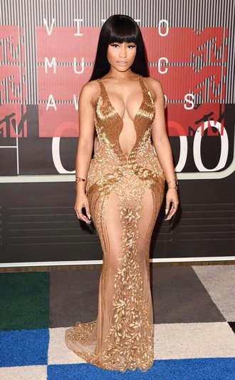 dress nicki minaj nicki minaj style nicki minaj collection sexy dress sexy maxi dress gold nude dress nude bodycon dress bodycon vma prom dress onika