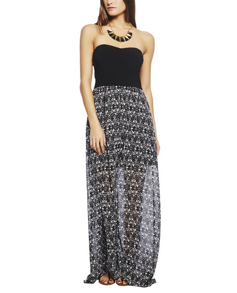 Black & White Tribal Tube Dress | Wet Seal