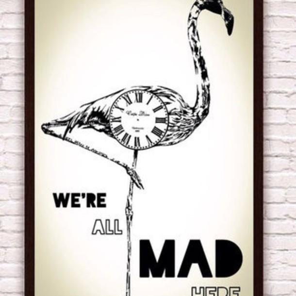 alice in wonderland, flamingo, frame, poster - Wheretoget