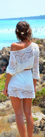 dress white dress mini dress lace lace dress white white lace dress