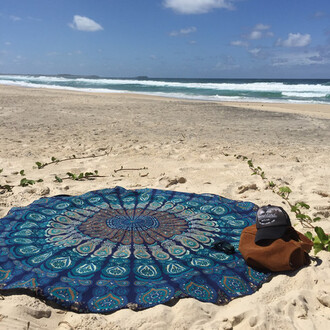 home accessory bedding round beach beach blanket beach throw quee bedsperad bedcover hippie wall decor yoga mat yoga blue beach dress scarf scarves