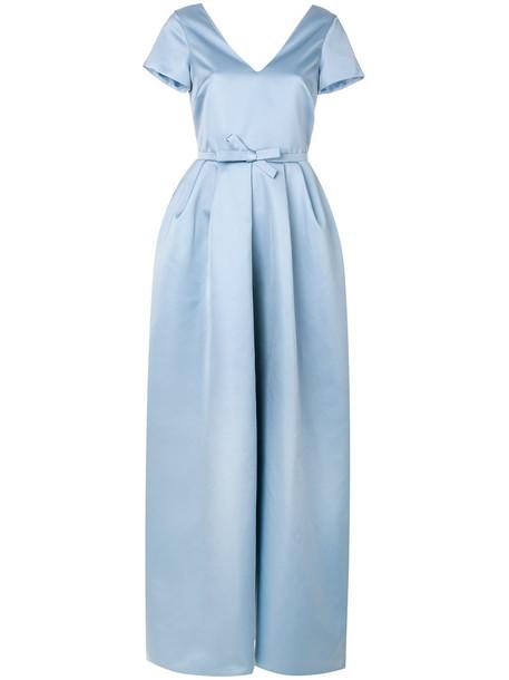 Rochas gown women ball blue silk dress