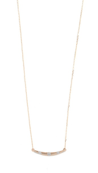 Adina Reyter 14k Small Diamond Stripe Curve Necklace in gold / yellow