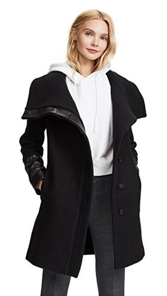 Club Monaco coat black