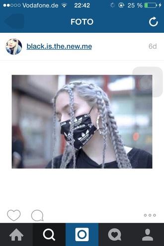 hair accessory black mask adidas nike grunge tumblr white