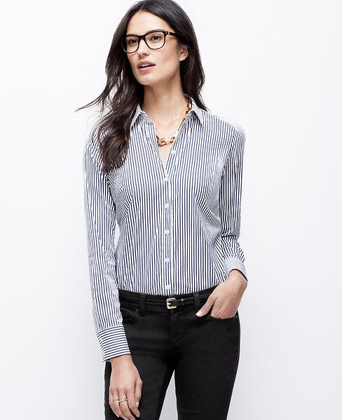 Wide stripe perfect shirt