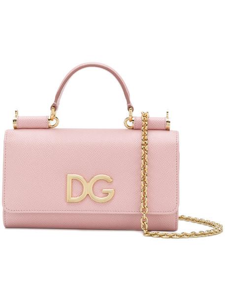 Dolce & Gabbana mini women bag crossbody bag leather purple pink