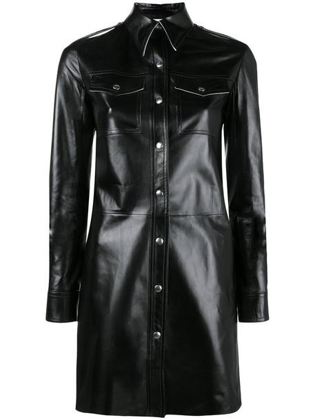 CALVIN KLEIN 205W39NYC shirt leather shirt women leather black top
