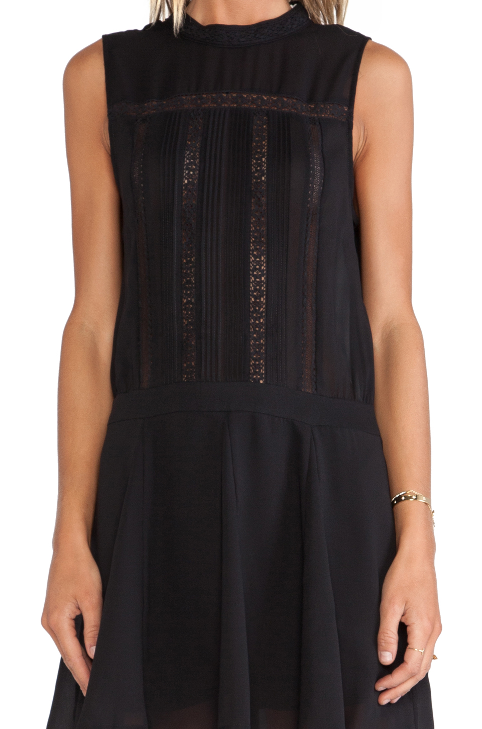 Heartloom yuko dress in black from revolveclothing.com