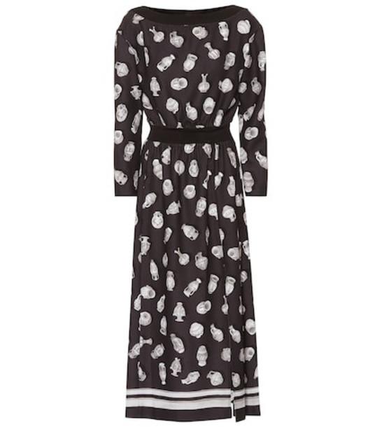 Altuzarra Printed midi dress in black