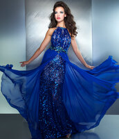 dress,prom dress,long prom dress,sequin dress,sequin prom dress,mac duggal prom dresses,cute,electric blue