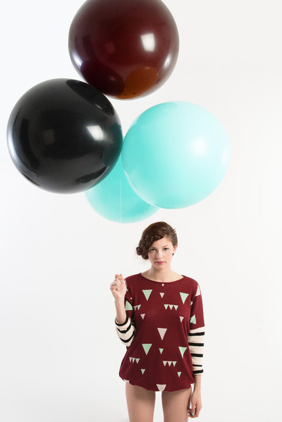 sweater print ambrym jumper organic cotton red triangle stripes burgundy