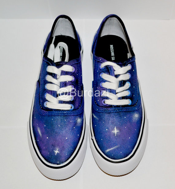 All sizes galactic sneakers by burdazi on etsy