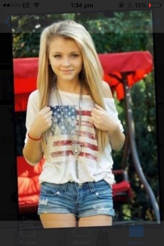 white blouse blouse american flag shirt need it please jumper slouchy sweater