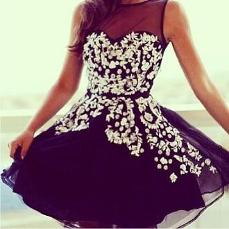 dress prom dress black dress sparkly dress