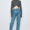 Reworked vintage jeans